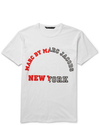 Marc by Marc Jacobs University Logo Printed Cotton Jersey T Shirt