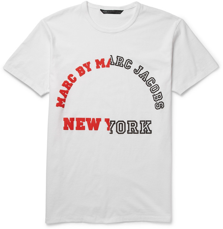 ... Marc by Marc Jacobs University Logo Printed Cotton Jersey T Shirt ... 7e77334cb3