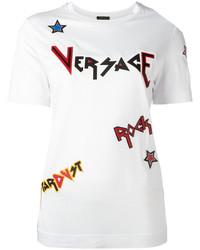 Versace Rock Slgoan T Shirt