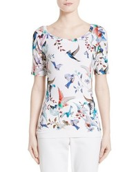 St. John Collection African Sparrows Print Jersey Tee
