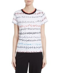 Grey Jason Wu Scribble Print Tee