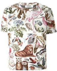 Valentino Wild Life Print T Shirt