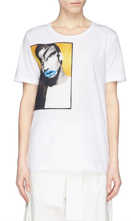 f8daaa26b Acne Studios Vista Portrait Print T Shirt, $175 | Lane Crawford ...