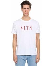 Valentino Vlnt Print Cotton Jersey T Shirt