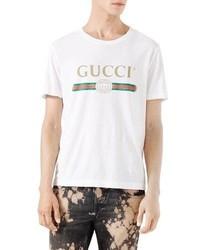 Gucci Washed T Shirt Wgg Print White