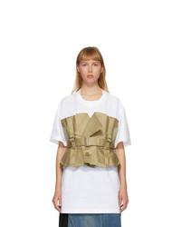 Junya Watanabe White And Beige Trench T Shirt