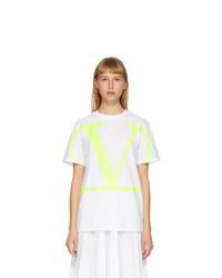 Valentino White And Yellow Vlogo T Shirt