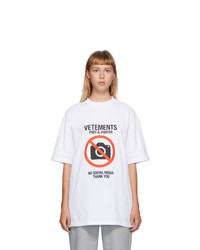 Vetements White Anti Social T Shirt