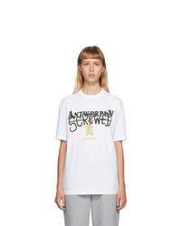 Vetements White Antwerpen Screwed T Shirt