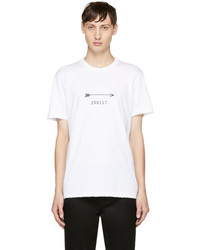 Givenchy White Arrow And Show Date T Shirt