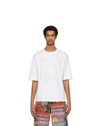 Neil Barrett White Artist T Shirt
