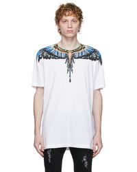 Marcelo Burlon County of Milan White Blue Wings T Shirt