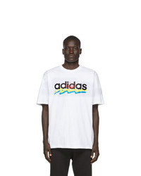 adidas Originals White Brush Stroke T Shirt