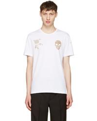 Alexander McQueen White Bullion T Shirt