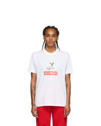 Burberry White Carrick T Shirt