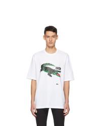 Lacoste White Chinatown Market Edition Logo T Shirt