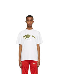 Palm Angels White Croco T Shirt