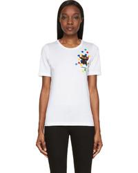 Dsquared2 White Dot Print T Shirt