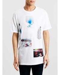 Topman White Erupt Print T Shirt