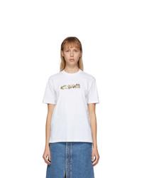 Stella McCartney White Floral Tape T Shirt