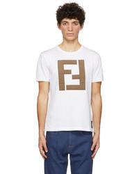 Fendi White Forever T Shirt