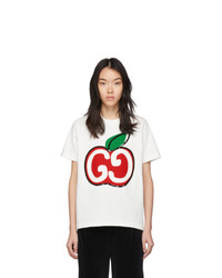 Gucci White Gg Apple T Shirt