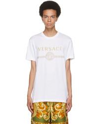 Versace White Gold Medusa Logo T Shirt