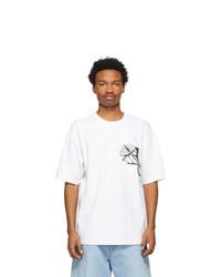 Acne Studios White Graphic T Shirt
