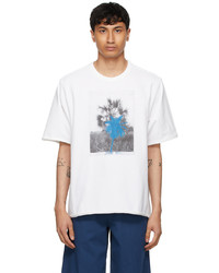Kenzo White High Summer Oversized Tropical Graffiti T Shirt