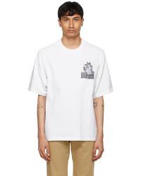 Kenzo White High Summer Tropical Graffiti T Shirt