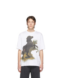 Acne Studios White Horse Print T Shirt