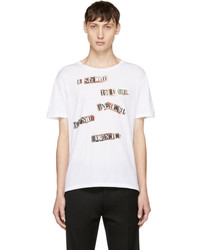 Valentino White Jamie Reid Edition The Next Beginning T Shirt