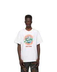 Awake NY White Kiwi T Shirt