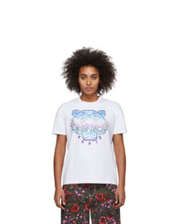 Kenzo White Limited Edition Holiday Tiger T Shirt