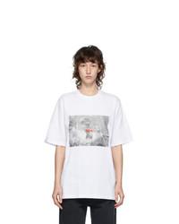 MSGM White Logo Graphic T Shirt