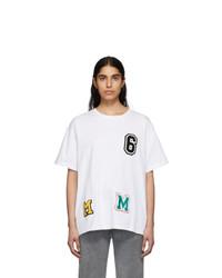 MM6 MAISON MARGIELA White Logo Patchwork T Shirt