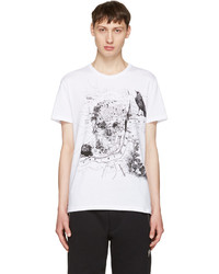 Alexander McQueen White London Map T Shirt
