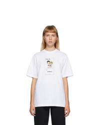 Vetements White Love Is Us T Shirt