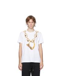 Moschino White Macro Ring T Shirt