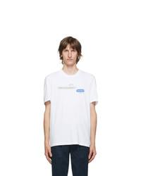 Neil Barrett White Message Graphic T Shirt