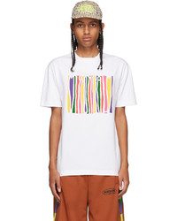 Palm Angels White Missoni Edition Melted Logo T Shirt