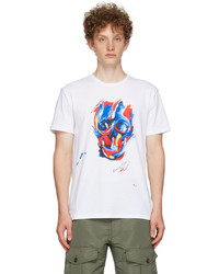 Alexander McQueen White Multicolor Bloomsbury Skull T Shirt