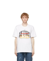 Doublet White Not Birthday Embroidery T Shirt
