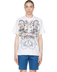 Burberry White Oversized Montage Print T Shirt