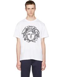 Versace White Painted Medusa T Shirt