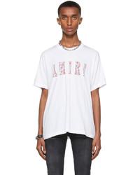 Amiri White Paisley Core Logo T Shirt