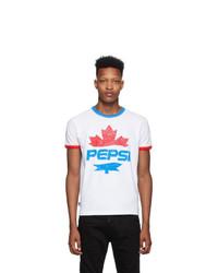 DSQUARED2 White Pepsi Edition T Shirt