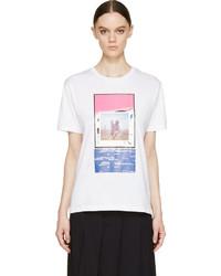 Raf Simons White Piggyback Print T Shirt