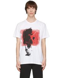 Alexander McQueen White Punk Skull Oversize T Shirt