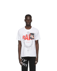 Givenchy White Rare Print Patch T Shirt
